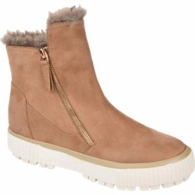ジュルネ コレクション Journee Collection レディース ブーツ ウェッジソール シューズ・靴 Comfort Foam(TM) Jezzy Wedge Bootie Tan
