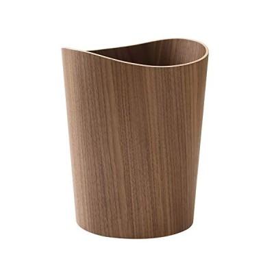 SUNREN ゴミ箱 ダストボックス 木製 収納 リビング インテリア くず 入れ (ダークブラウン)