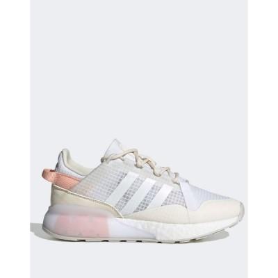 アディダス レディース スニーカー シューズ adidas Originals ZX 2K Boost Pure sneakers in white White