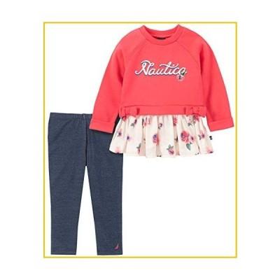 Nautica Girls' Toddler 2 Pieces Leggings Set, Watermelon/Blue, 4T