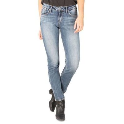 シルバー ジーンズ レディース デニムパンツ ボトムス Avery Curvy-Fit Straight-Leg Jeans