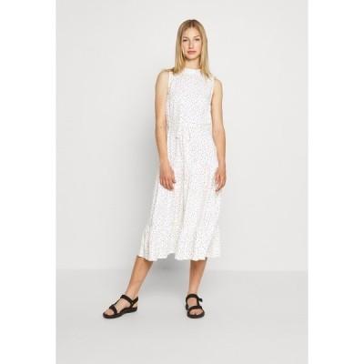 ミスセルフフリッジ ワンピース レディース トップス HIGH NECK SPOT MIDI - Day dress - white