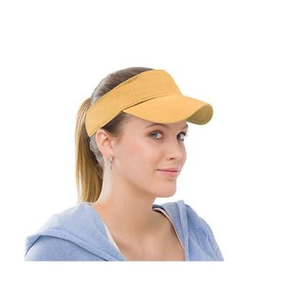 サンバイザー スポーツ コットン ツイル プレーン ハット 調節可能なストラップ付き メンズ レディース アウトドア ゴルフ テニス ランニング ジョ