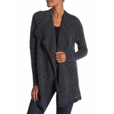 ファッション トップス Susina Womens Gray Size PXL Petite Chenille Drape Cardigan Sweater