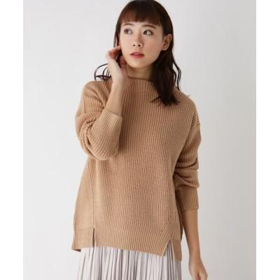pink adobe/ピンクアドベ シンプルボトルネックニット ベージュ(052) 40(L)