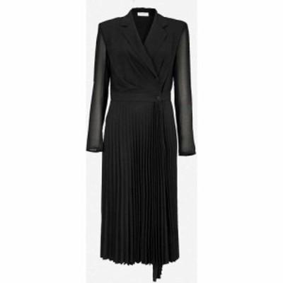 サンドロ SANDRO レディース ワンピース ミドル丈 ワンピース・ドレス Blazer-style woven midi dress BLACK