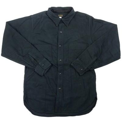 アットラスト At Last & Co CHAMOIS SHIRT CHINSTRAP 長袖シャツ 黒 Size【XS】 【中古品-良い】【中古】