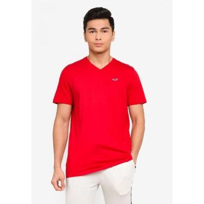 ホリスター Hollister メンズ Tシャツ Vネック トップス V-Neck Solid T-Shirt Red