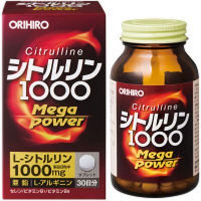 オリヒロオリヒロ シトルリン Mega Power 1000 30日分 240粒 サプリメント
