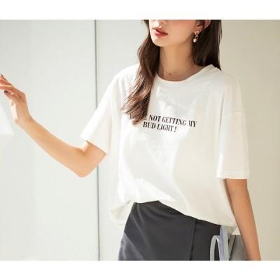 tシャツ レディース 半袖 無地 カットソー 黒 白 ブラック ホワイト ビッグT オーバーサイズ 大きいサイズ ビッグTシャツ 部屋着 ゆったり 【21feb028】