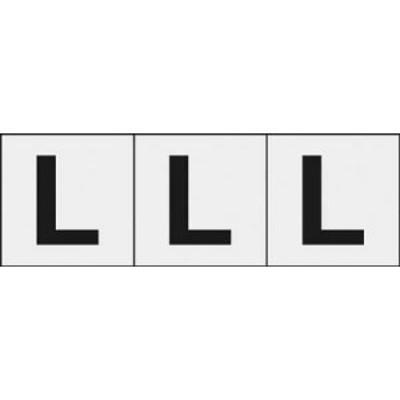 TRUSCO アルファベットステッカー 30×30 「L」 透明 3枚入