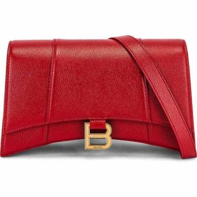 バレンシアガ Balenciaga レディース ショルダーバッグ バッグ hourglass sling bag Medium Red