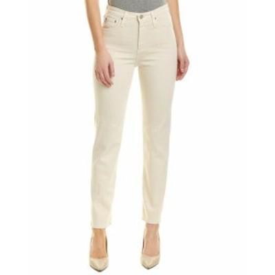AG  ファッション パンツ Ag Jeans Phoebe 1 Year True Ecru High-Rise Tapered Leg