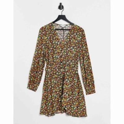 ウェアハウス Warehouse レディース ワンピース Vネック ワンピース・ドレス daisy v neck dress in multi マルチカラー