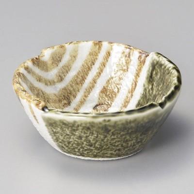 陶雅 織部ストライプ3.0丸小鉢
