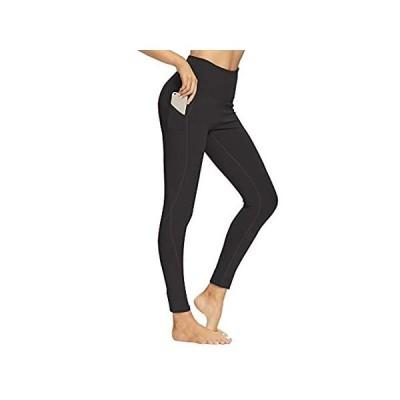 Yogamite ヨガパンツ ポケット付き レディース ハイウエスト 腹部コントロール レギンス 4方向ストレッチ 通気性 タイツ US サイズ: L