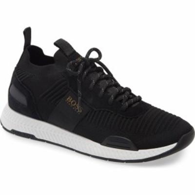 ヒューゴ ボス BOSS メンズ スニーカー シューズ・靴 Titanium Sneaker Black Fabric/White