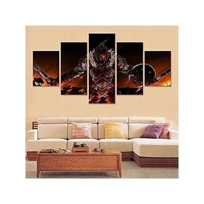 Goblin Slayer Blood Armor Wall Art Prints Home Decor 5 Pieces Canvas Painti