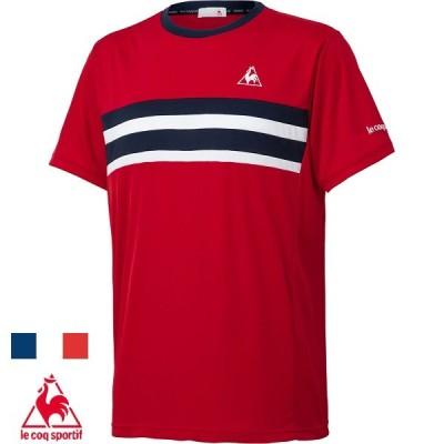 ◆◆○送料無料 メール便発送 <ルコック> メンズ 半袖ゲームシャツ JTA公認 QTUPJA31ZZ (RED:レッド) テニス QTUPJA31ZZ-RED