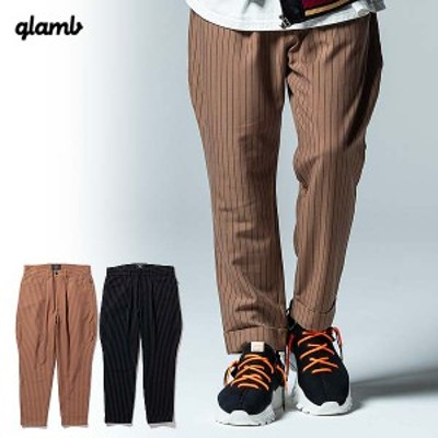 glamb グラム Karl stripe cropped slacks メンズ パンツ 送料無料 ストリート atfpts
