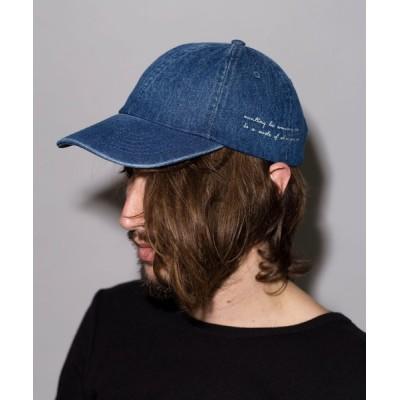 NO ID. / メッセージ刺繍CAP MEN 帽子 > キャップ