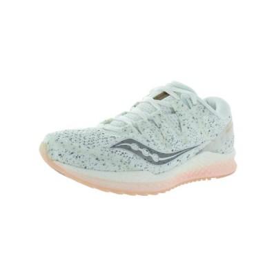 レディース 靴 スニーカー Saucony Womens Freedom ISO 2 Logo Lightweight Running Shoes White 9 Medium (B M)