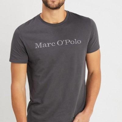 マルコポーロ メンズ ファッション Print T-shirt - gray pinstripe