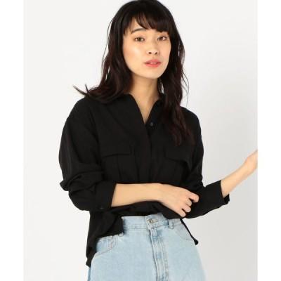 シャツ ブラウス Prefer SHIPS:2ポケットシャツジャケット