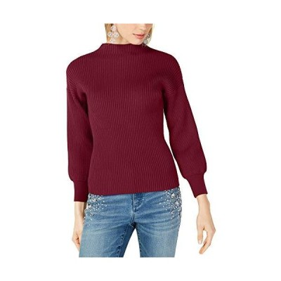 I-N-C Womens Ribbed Pullover Sweater, Red, Large並行輸入品 送料無料