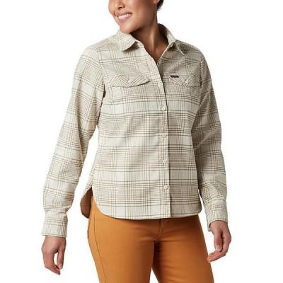 (取寄)コロンビア レディース シルバー リッジ ロングスリーブ フランネル シャツ Columbia Women's Silver Ridge LS Flannel Shirt Truffle Small Plaid