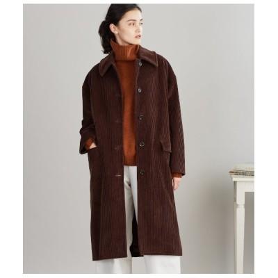 NEWYORKER / Cotton Cashmere Corduroy ビッグカラーオーバーコート WOMEN ジャケット/アウター > ステンカラーコート