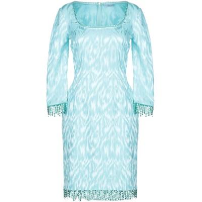 ブルマリン BLUMARINE ミニワンピース&ドレス ターコイズブルー 40 コットン 50% / レーヨン 49% / ポリウレタン 1% ミニ