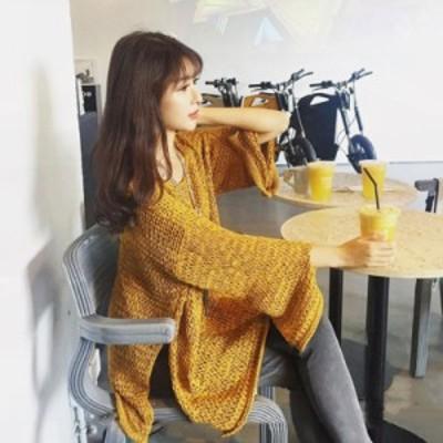 ざっくりニット 大きいサイズ 大きいサイズ レディース トップス 長袖 ニットセーター かぎ網ニット ゆったり オーバーサイズ カジュアル
