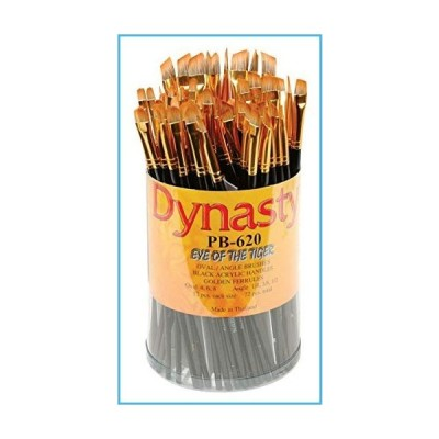 Dynasty 23484 Eye of The Tiger Synthetic Hair Acrylic Handle Paint Brush Set, Assorted Size, Black (Pack of 72)並行輸入品