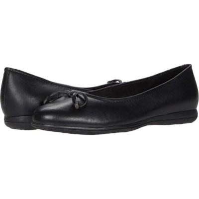 トロッターズ Trotters レディース スリッポン・フラット シューズ・靴 Dellis Black Leather
