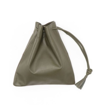 collex / 【THE CASE×collex】 別注 ワンハンドル レザー 巾着バッグ WOMEN バッグ > ハンドバッグ