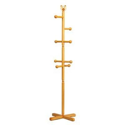 【10個セット】ジュニアハンガー(ポールハンガー)  高さ129cm 熊(くま)/木製/天然木/キッズ/子供部屋/コートハンガー/北欧風/ナチュラル/