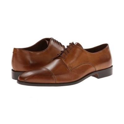 Massimo Matteo マッシオマッテオ メンズ 男性用 シューズ 靴 オックスフォード 紳士靴 通勤靴 5-Eye Cap Toe - Brandy/Burnish Toe