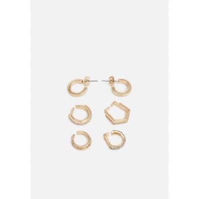 ピーシーズ ピアス&イヤリング レディース アクセサリー PCMULLI EARRINGS 5 PACK - Earrings - gold-coloured/clear