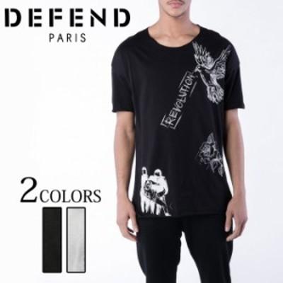 DEFEND PARIS ディフェンド パリス FARO DRAWING T-SHIRT 半袖 Tシャツ ブラック ホワイト オシャレ ストリート