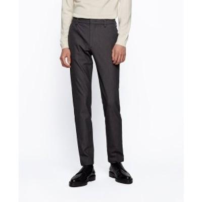ヒューゴボス メンズ カジュアルパンツ ボトムス BOSS Men's Kaito Slim-Fit Chinos Black