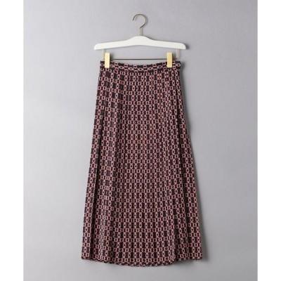 スカート UBCB チェーンプリント プリーツスカート