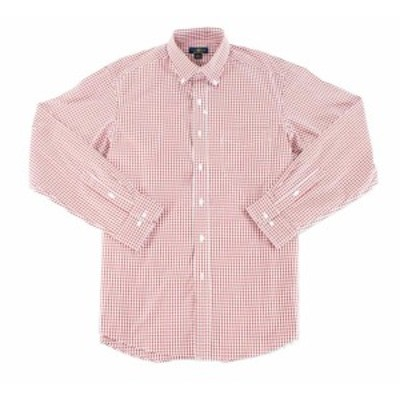 Plaid  ファッション ドレス Club Room NEW Red Mens Size 18 Regular Fit Plaid Estate Dress Shirt