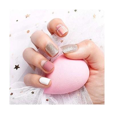 LIARTY 24Pcs ネイルチップ ショート 可愛い 人気 ネイル 偽の爪 つけ爪 ファッション 優雅ネイル おしゃれ 結婚式 パーティー