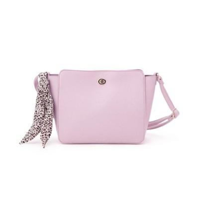 【ピンクアドベ】 <ヒョウ柄スカーフ付き>スクエア型ショルダーバッグ レディース ラズベリーピンク 00 pink adobe