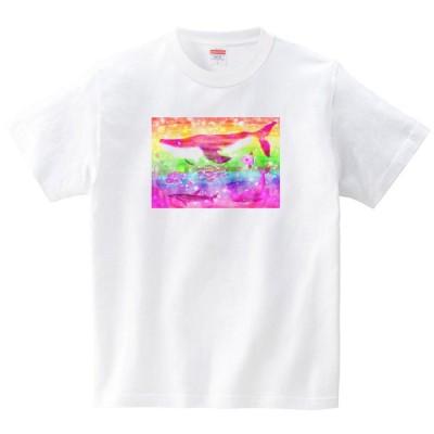 [itaxes] にじいろ [Tシャツ・ホワイト](あおまんぼう)