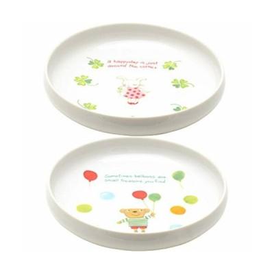 ポタリーハウス(Pottery House) すくい易い子どもボウル らんらんランド 2柄組 磁器 2240073