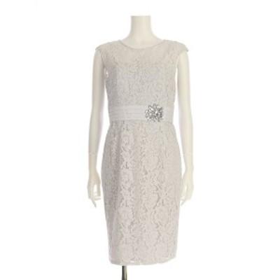 ローマン ROMAN ドレス サイズL レディース 新品同様 グレー系 カクテルドレス【中古】20201209