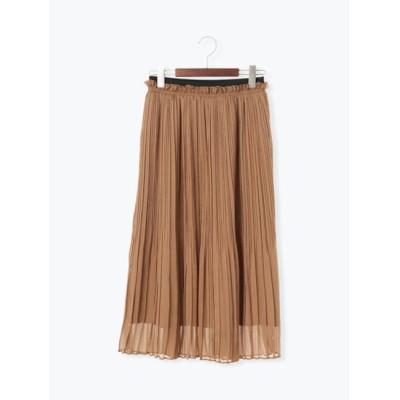 【テチチ/Te chichi】 楊柳シフォンプリーツスカート(着丈80cm)
