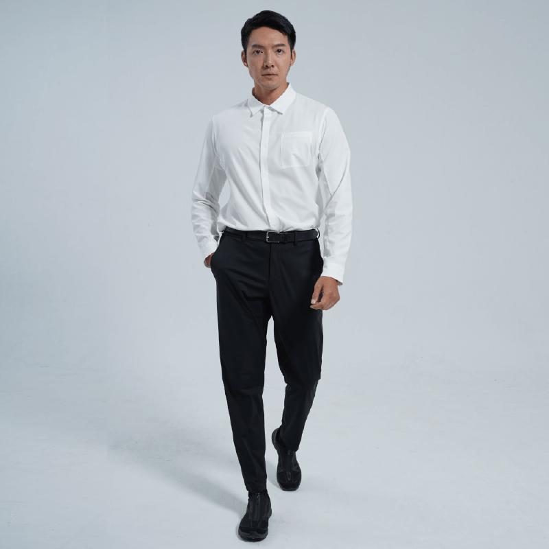 科技機能套裝 襯衫/淺藍色/S+西裝褲/黑色/M